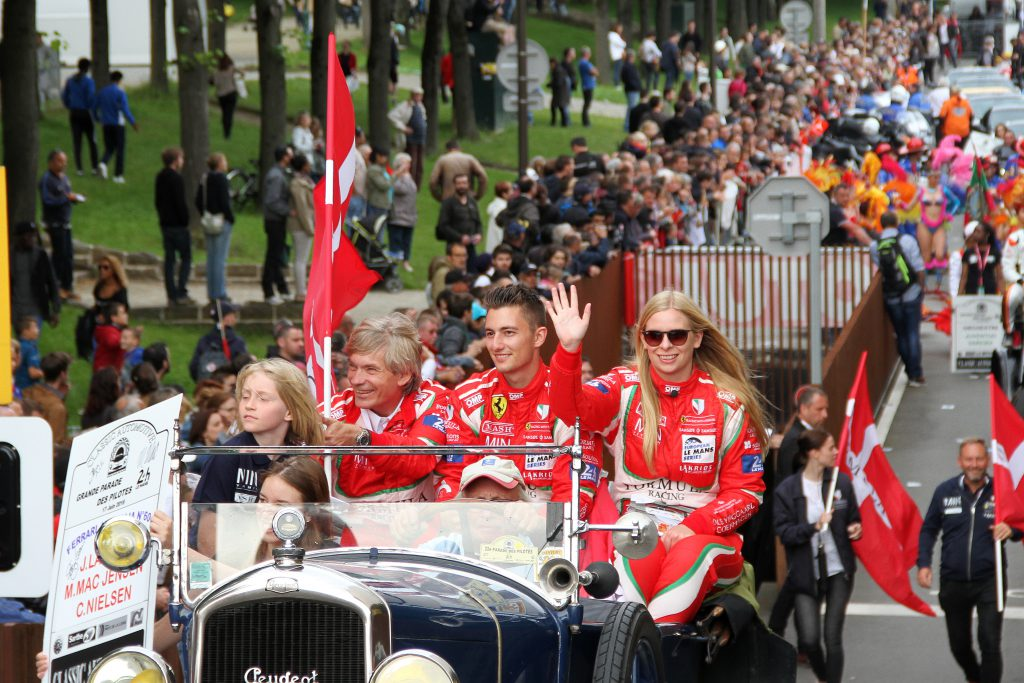 Christina Nielsen Johnny Laursen Mikkel Mac Parade Le Mans 2016 Photo Jan Kaiser